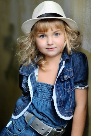 portrait of a Beauty and fashion child girl photo