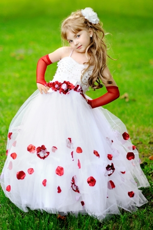 girl in dress: portrait of a Beauty and fashion princess  girl
