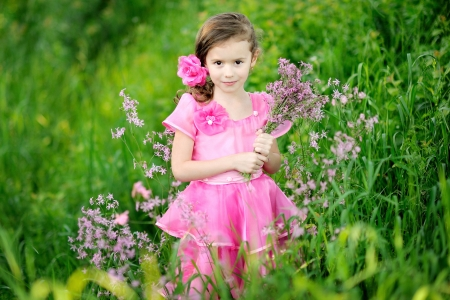 portrait of little girl outdoors in summer Stock Photo - 16344509