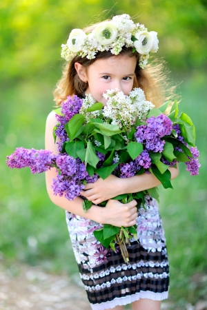 portrait of little girl outdoors in summer Stock Photo - 20020983