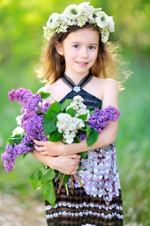 portrait of little girl outdoors in summer Stock Photo - 20020978