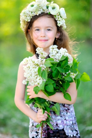 portrait of little girl outdoors in summer Stock Photo - 20020976