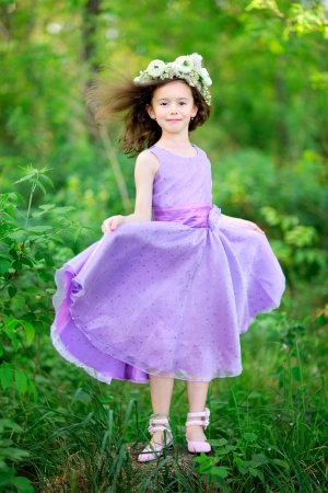 portrait of little girl outdoors in summer Stock Photo - 20020977