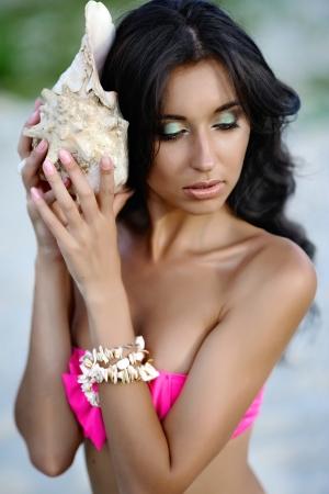 portrait of a beautiful young girl in a bikini Stock Photo - 22411424