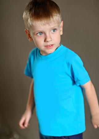 gaiety: Portrait of a boy on vacation in summer camp Stock Photo
