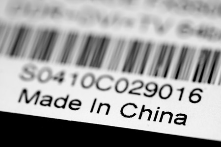 made in: Made in China label Stockfoto
