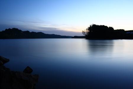 lake by night photo