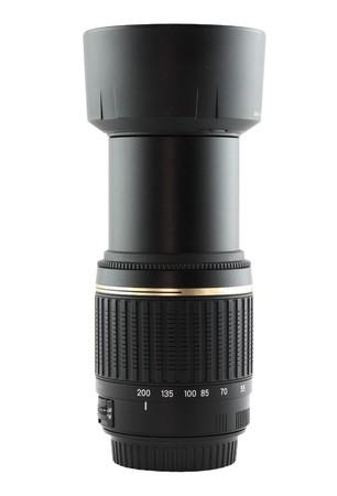 telephoto: telephoto lens isolated