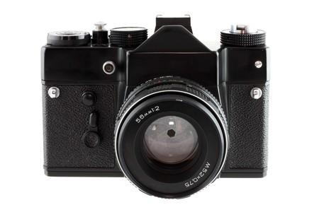 old camera isolated photo