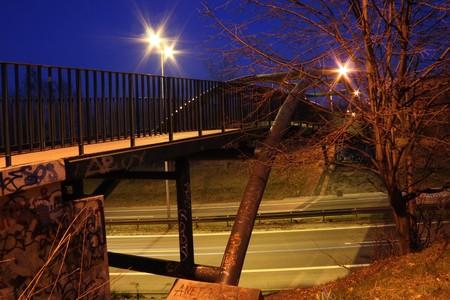 overbridge: viaduct by night