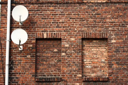 a window on the world: TV - window on the world: satellites and walled up windows