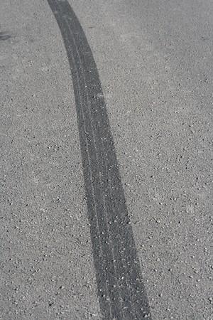 frenos: coche traza Foto de archivo