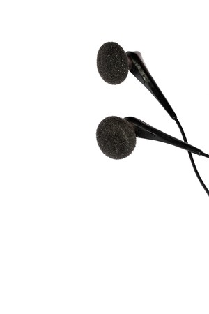 earphones isolated Stock Photo - 4146109