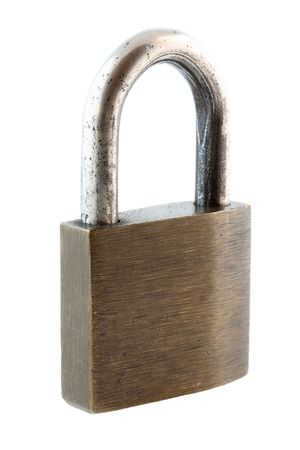 padlock isolated Stock Photo - 5126084