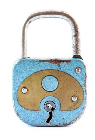 padlock isolated photo