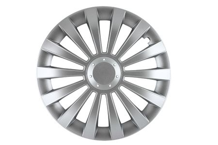 hubcaps: hubcap isolated Stock Photo