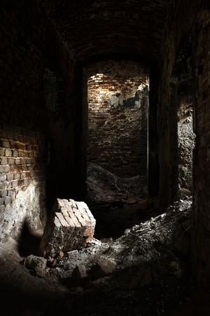 devastated: ruins  Stock Photo
