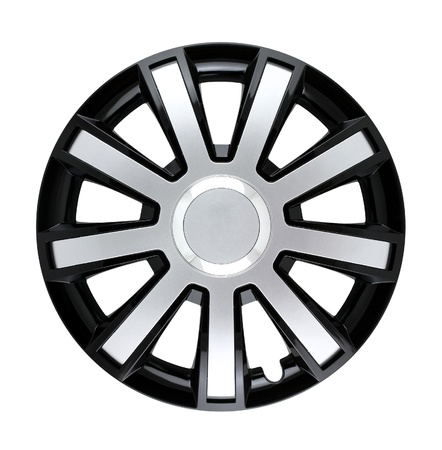 hubcap: hubcap isolated Stock Photo