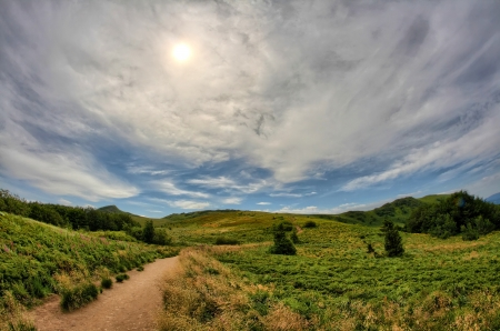 defile: Bieszczady Mountains