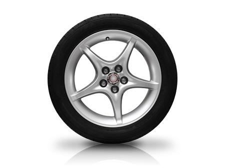 alloy wheel: Car wheel isolated