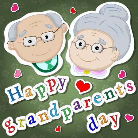 funny pictures: Greetings on grandparents day with the phrase and face of grandparents