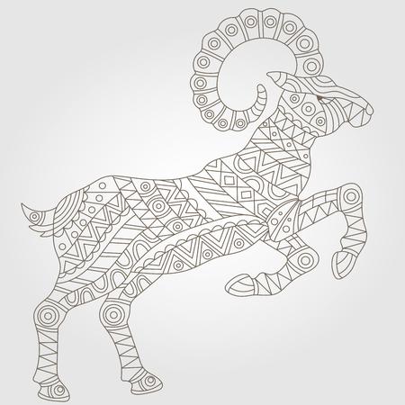 Contour Illustration mit abstrakten ram, dunklen Umriss auf einem hellen Hintergrund Standard-Bild - 58630502