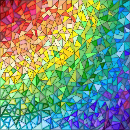 抽象的なステンド グラス背景色付きの要素は、虹色のスペクトラムでアレンジ