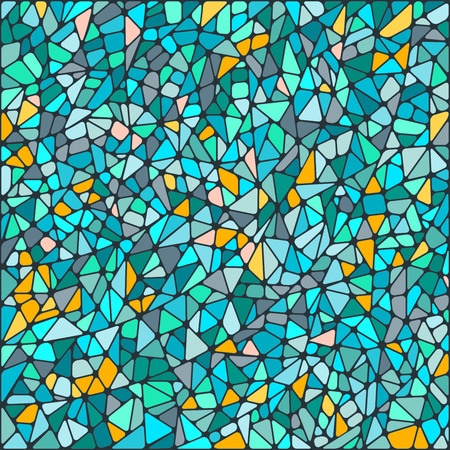 Abstract mosaic background of colored tiles on a dark background Vettoriali