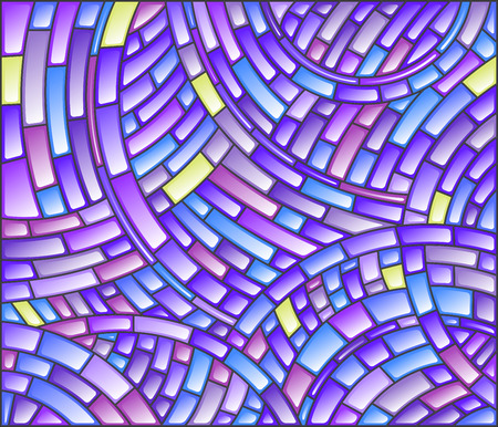 Abstract mosaic background of colored tiles on a dark background Illustration