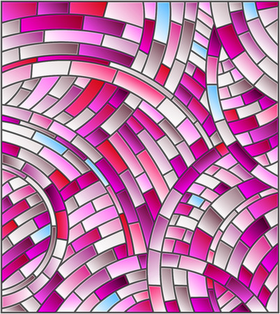 Abstract mosaic background of colored tiles ,pink gamma