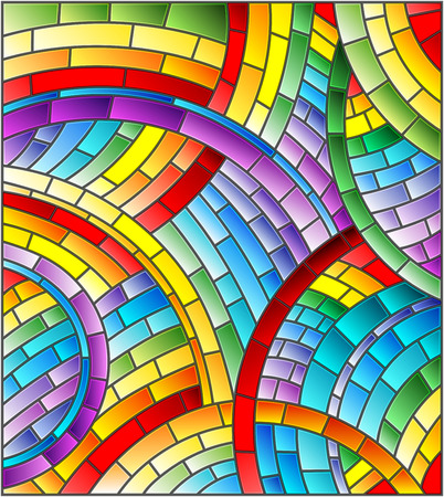 Abstract mosaic background of colored tiles laid in a circle Illusztráció