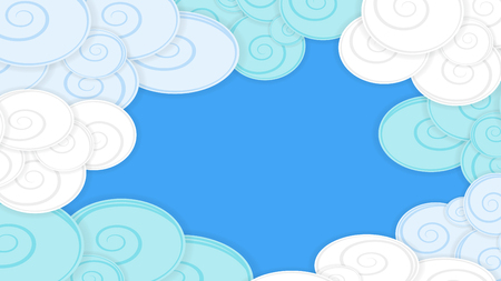 Abstract pattern image with clouds, material design