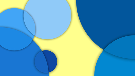 Abstract  pattern with different levels surfaces and circles, material design