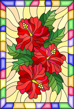 4531 Stained Glass Flowers Stock Illustrations Cliparts And