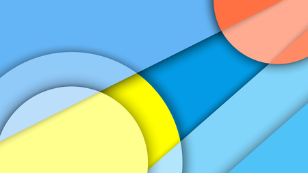 gamma: Abstract background with different levels surfaces and circles, material design