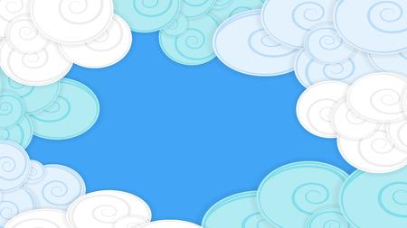 Abstracte achtergrond met pluizige samenvatting en wolken, materieel ontwerp