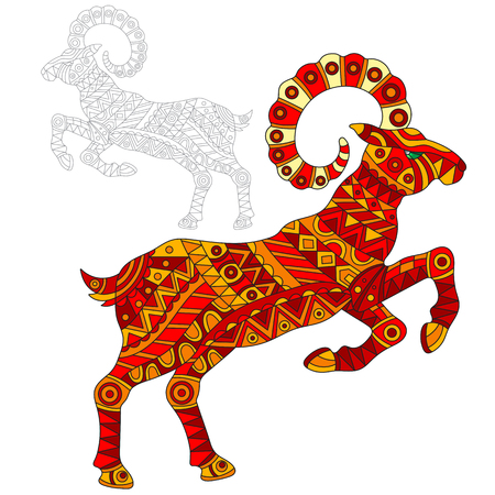 Red goat icon.