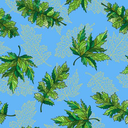 Groen laat patroon. Stock Illustratie