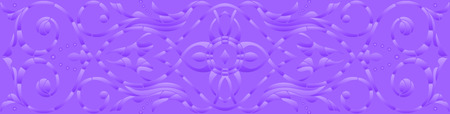 Background illustration with abstract flowers,purple halftone, horizontal orientation Иллюстрация