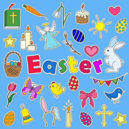 Easter themed Cartoon icon set