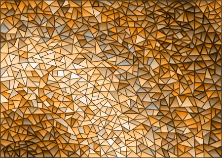 Abstract stained glass background ,monochrome,tone brown,squareimage