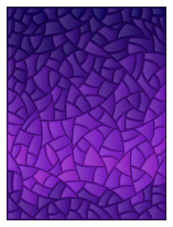 Stained glass illustration, purple abstract background, mosaic illustration Ilustracja