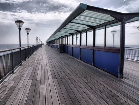 The pier at Boscombe, Bournemouth in Dorset Stock Photo - 10823146