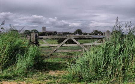 Looking out toward Christchurch Priory Stock Photo - 10823144