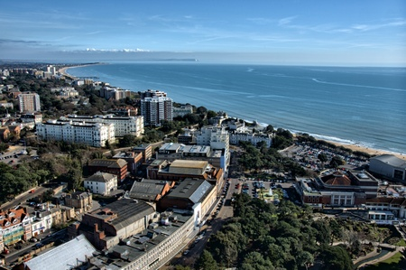 Bournemouth aerial photo from 500ft