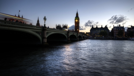 London evening view of Big Ben from Westminster Bridge Stock Photo - 16881563