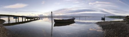 Large panorama of Fleet lagoon near Weymouth on Dorset s Jurassic Coastline Stock Photo - 16960353