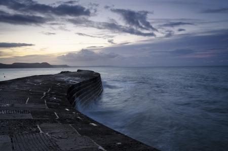 The Cobb at Lyme Regis on Dorset Stock Photo - 17057921