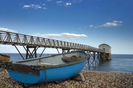 Fishing boat at Selsey Bill lifeboat station in West Sussex