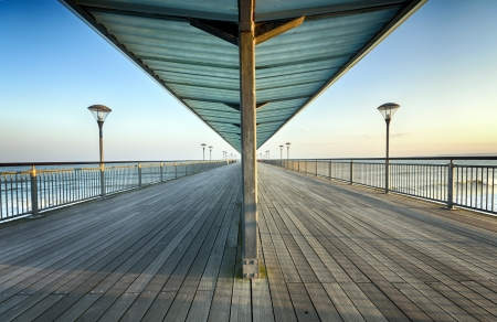 A sunny evening at Boscombe Pier in Bournemouth  photo